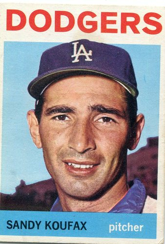 Photo of 1964 Topps #200 Sandy Koufax -- Dodgers Hall of Famer