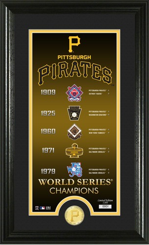 "Photo of Serial #1! Pittsburgh Pirates ""Legacy"" Supreme Bronze Coin Photo Mint"
