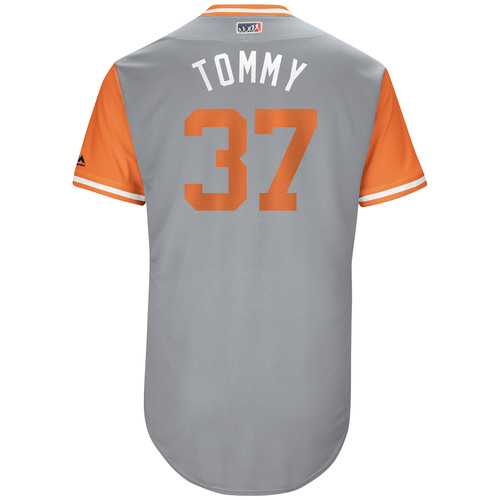 "Photo of Kelby ""Tommy"" Tomlinson San Francisco Giants Game-Used Players Weekend Jersey"