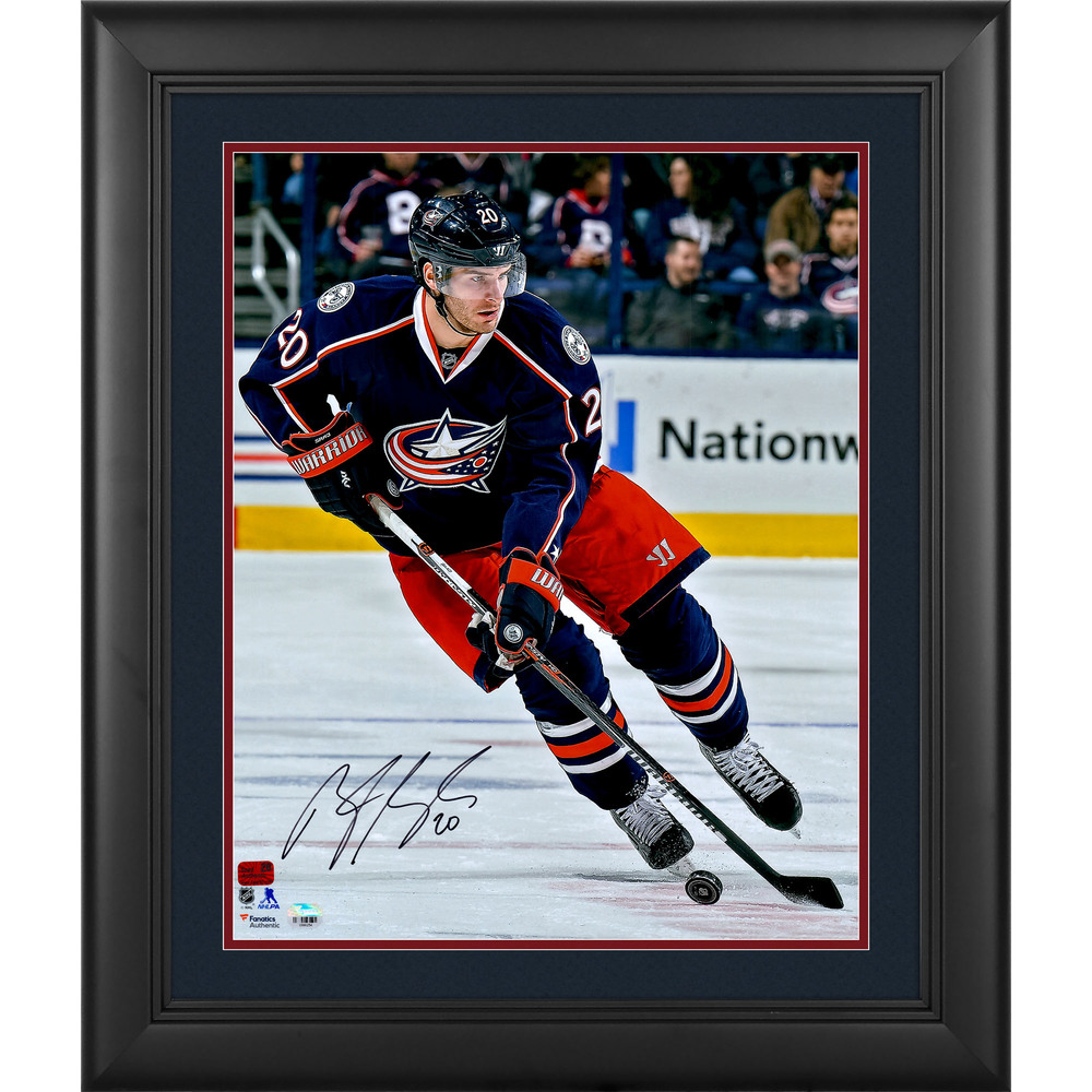 Brandon Saad Columbus Blue Jackets Framed Autographed 16