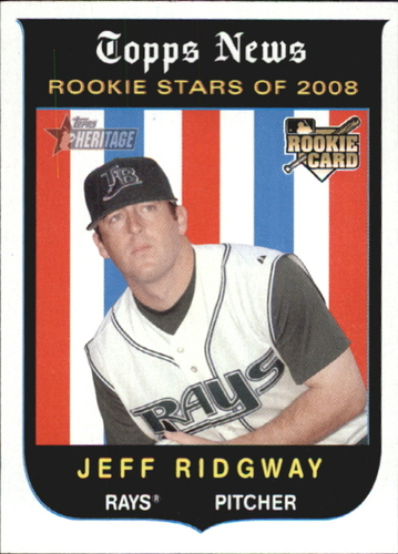 Photo of 2008 Topps Heritage #139 Jeff Ridgway RC