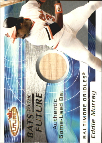 Photo of 2001 Fleer Futures Bats to the Future Game Bat #14 Eddie Murray