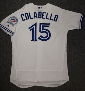 Toronto Blue Jays Authenticated Team Issued 2016 Jersey - #15 Chris Colabello
