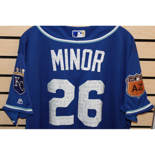 Photo of Game-Used Mike Minor Spring Training Jersey (Size 48) (4/14/17 LAA @ KC)