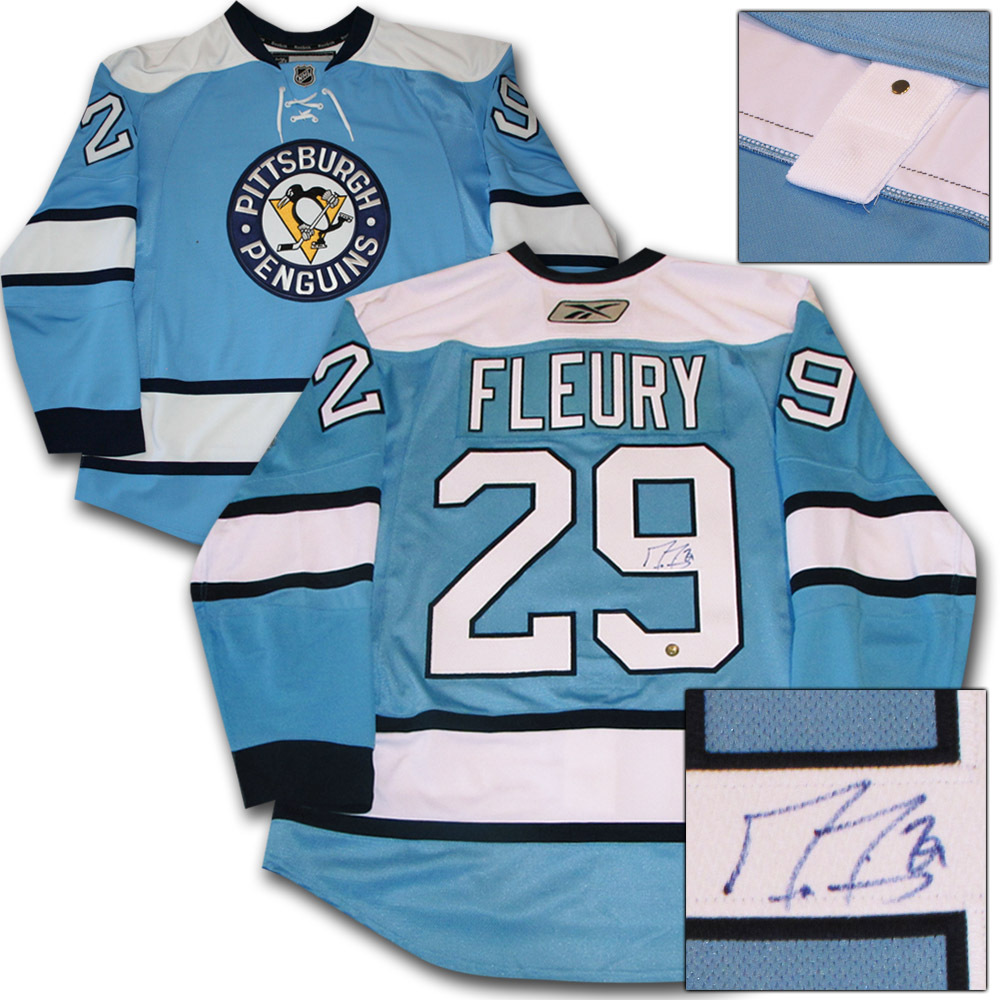 Marc-Andre Fleury Autographed Pittsburgh Penguins Authentic Pro Jersey
