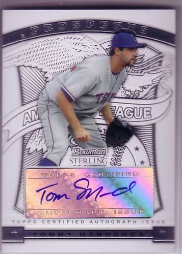 Photo of 2009 Bowman Sterling Prospects #TME Tommy Mendonca AU
