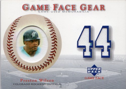 Photo of 2003 Upper Deck Game Face Gear #PW Preston Wilson