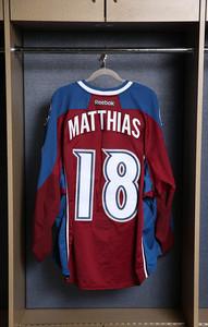 Shawn Matthias Colorado Avalanche Game Worn Burgundy Jersey