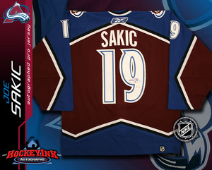 JOE SAKIC Signed RBK Classic PRO Colorado Avalanche Burgundy Jersey