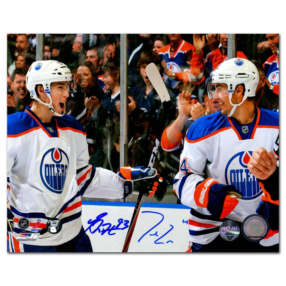 Jordan Eberle & Ryan Nugent-Hopkins Autographed Edmonton Oilers 8X10 Combo Photo