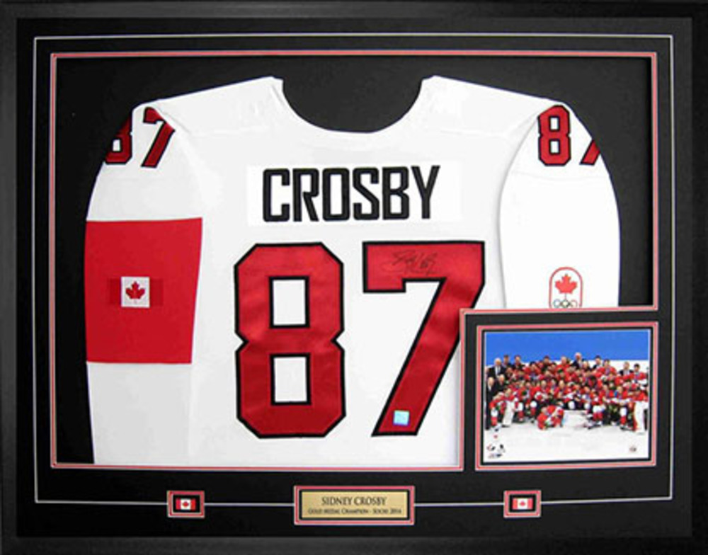 Sidney Crosby - Signed & Framed Jersey - White Nike Premier Team Canada 2014 Sochi Winter Games
