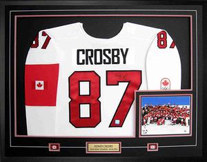 Sidney Crosby - Signed & Framed Jersey - White Nike Premier Team Canada 2014 Sochi Winter Games