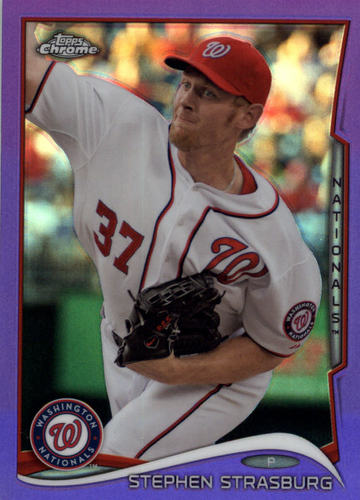 Photo of 2014 Topps Chrome Purple Refractors #17 Stephen Strasburg