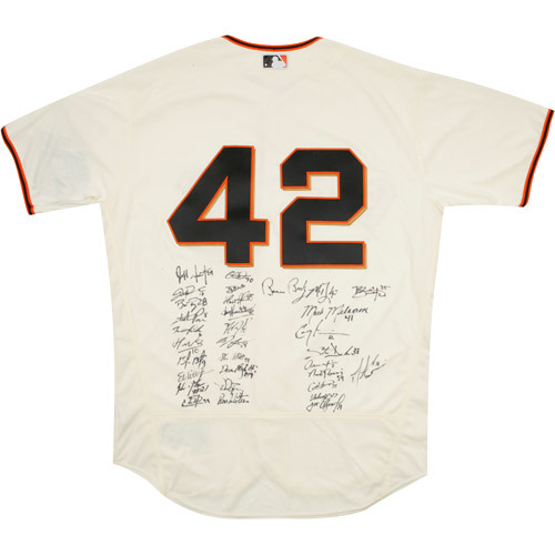 Photo of 2017 Jackie Robinson Day Jersey - San Francisco Giants Team Autographed Jersey