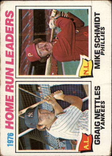 Photo of 1977 Topps #2 Home Run Leaders/Graig Nettles/Mike Schmidt