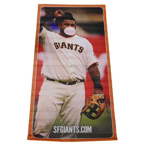 Photo of San Francisco Giants - 2014 Vinyl Street Banner - Pablo Sandoval - Stick Together