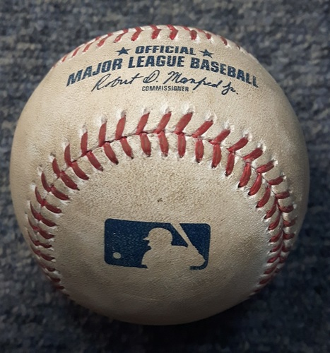 Photo of Authenticated Game Used Baseball - RBI Double by Josh Donaldson (August 26, 2017 vs John Curtiss in the Bottom of the 8th)