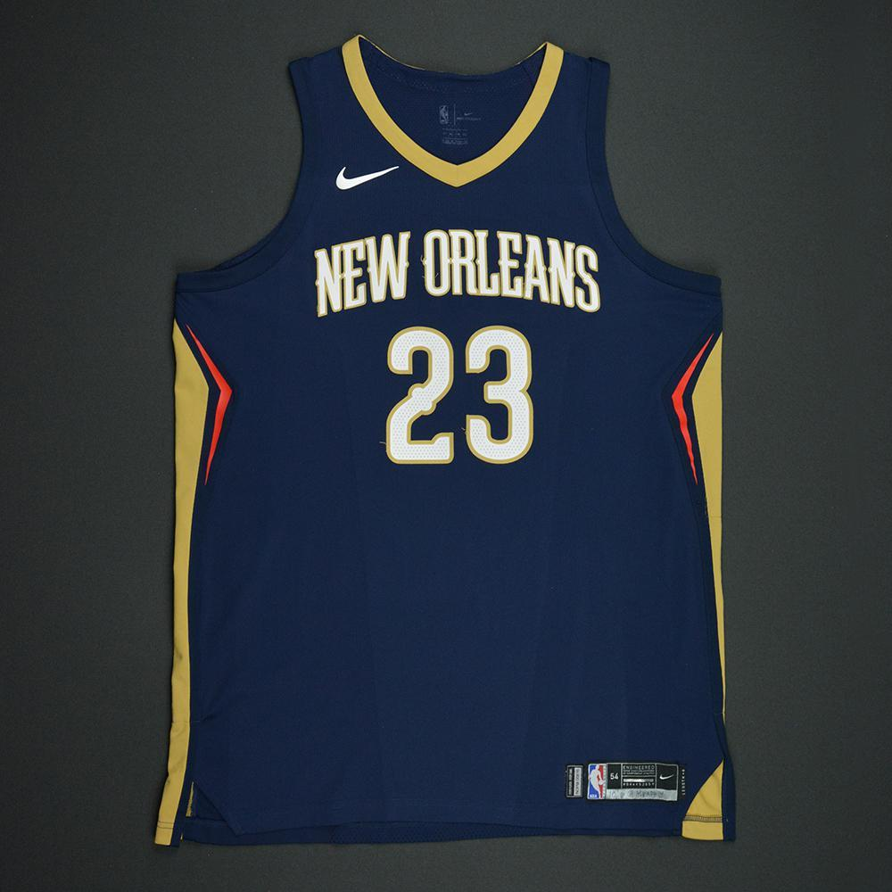 Anthony Davis - New Orleans Pelicans - Kia NBA Tip-Off 2017 - Game-Worn Jersey - Worn During 3 Games - 3 Double-Doubles
