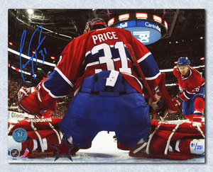 Carey Price Montreal Canadiens Autographed Bell Centre Net Cam 16x20 Photo #/231