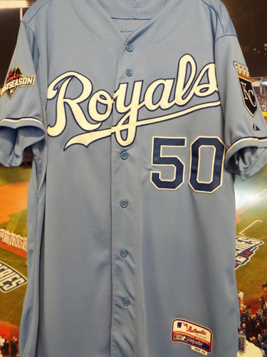 Photo of Club Issued Miguel Almonte Powder Blue 2015 Postseason Jersey