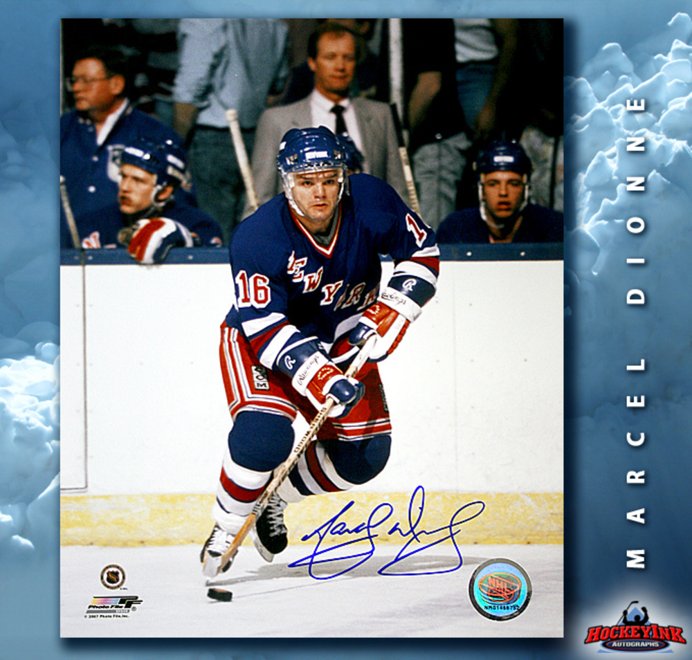 MARCEL DIONNE Signed New York Rangers 8 X 10 Photo - 70500