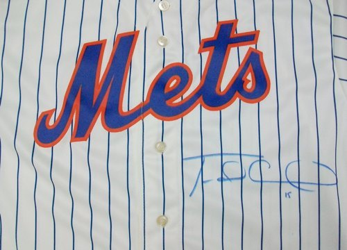 Photo of Travis D'Arnaud Autographed Replica Jersey