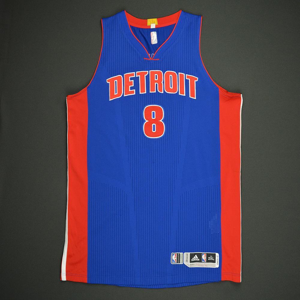 Henry Ellenson - Detroit Pistons - Game-Worn Rookie Debut Jersey - 2016-17 Season