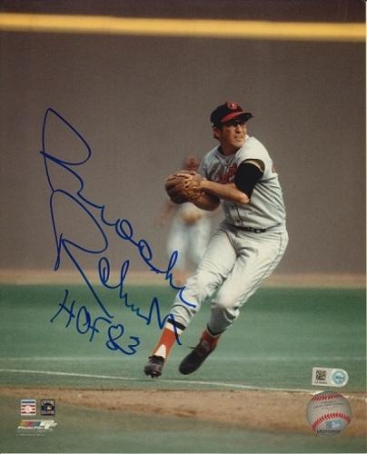 "Photo of Brooks Robinson ""HOF 83"" Autographed 8x10"