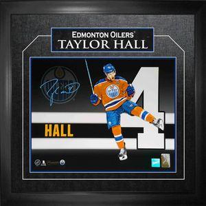 Taylor Hall - Signed & Framed 11x14 Etched Mat - Number Print