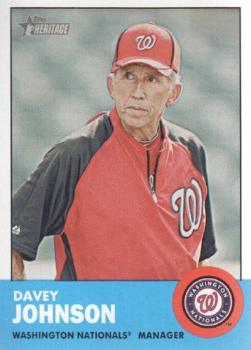 Photo of 2012 Topps Heritage #402 Davey Johnson MG