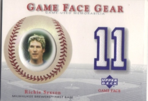 Photo of 2003 Upper Deck Game Face Gear #RS Richie Sexson