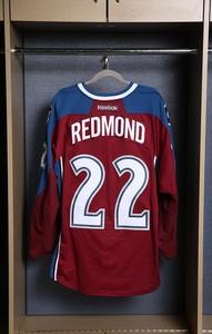 Zach Redmond Colorado Avalanche Game Worn Burgundy Jersey