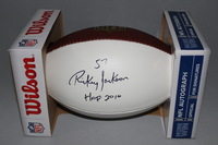 HOF - SAINTS RICKEY JACKSON SIGNED PANEL BALL