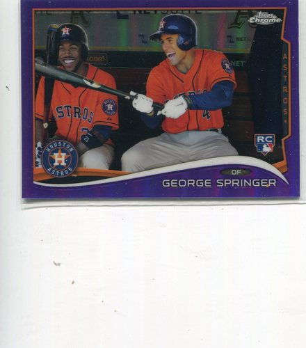Photo of 2014 Topps Chrome Purple Refractors #138 George Springer