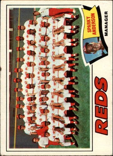 Photo of 1977 Topps #287 Cincinnati Reds CL/Sparky Anderson MG