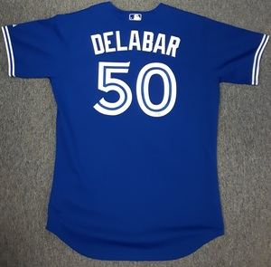 Toronto Blue Jays Authenticated Game Used 2014 Jersey - #50 Steve Delabar