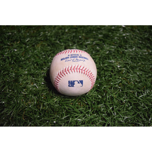 Photo of Game-Used Baseball: Andrelton Simmons Double off Alex Cobb