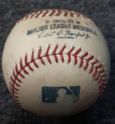 Photo of Authenticated Game Used Baseball - Single by Miguel Cabrera (Top 9 vs Ryan Tepera on September 9, 2017)