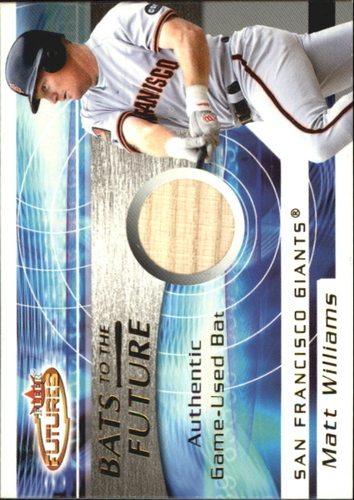 Photo of 2001 Fleer Futures Bats to the Future Game Bat #23 Matt Williams