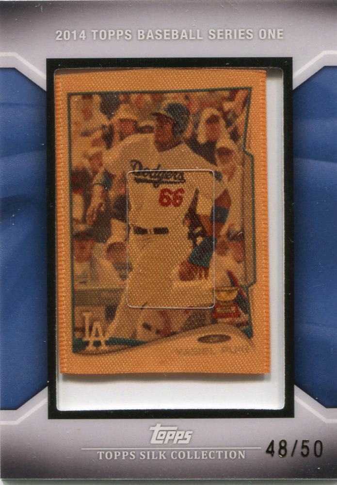 2014 Topps Silk Collection #142 Yasiel Puig 48/50