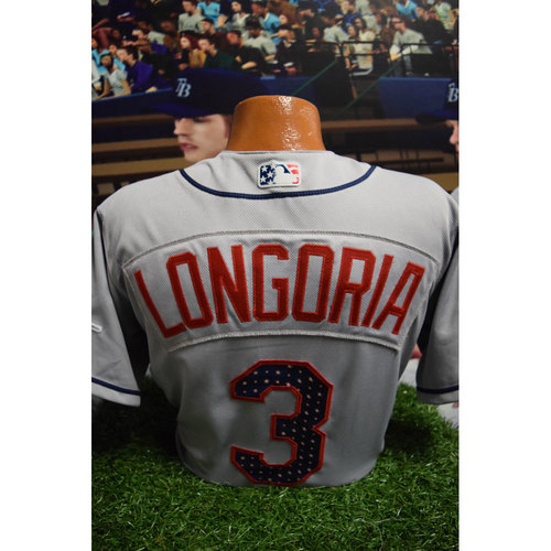 Photo of 2017 Game-Used July 4th Jersey: Evan Longoria