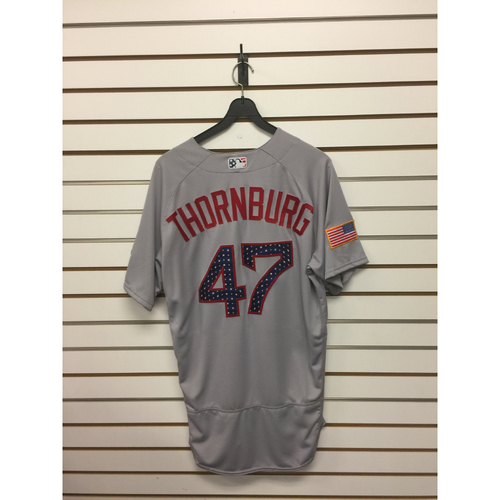 Photo of Tyler Thornburg Team-Issued 2017 Stars and Stripes Jersey