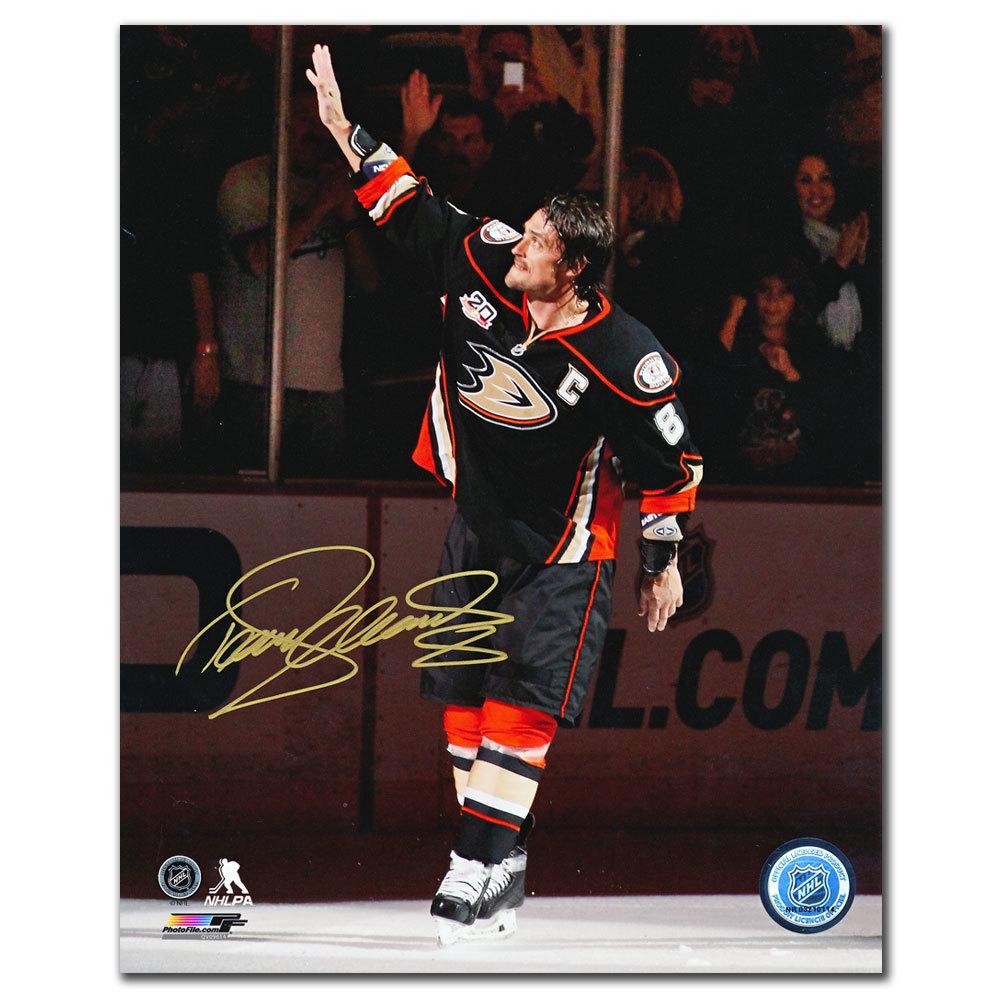 Teemu Selanne Anaheim Ducks LAST NHL GAME Autographed 8x10