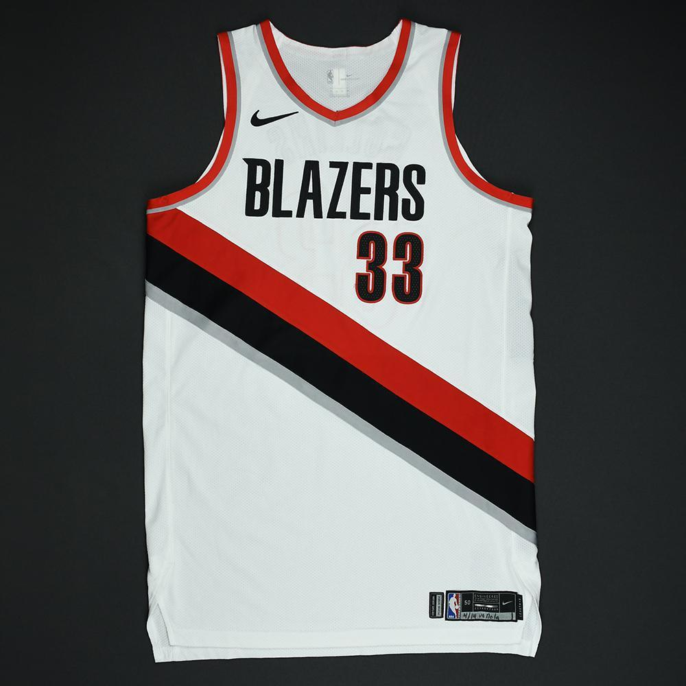 Zach Collins - Portland Trail Blazers - 2018 NBA Playoffs Game-Worn Jersey