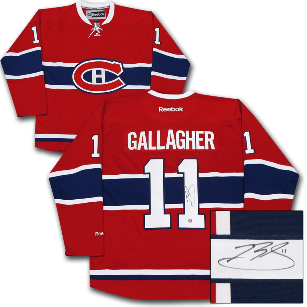 Brendan Gallagher Autographed Montreal Canadiens Jersey