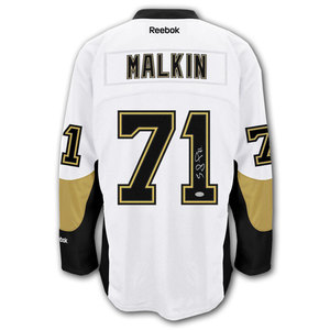 Evgeni Malkin Pittsburgh Penguins RBK Premier Away Autographed Jersey