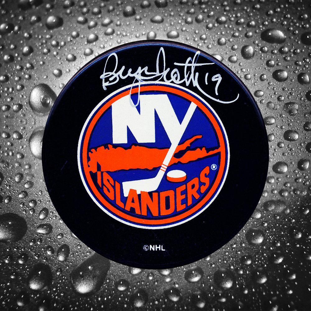 Bryan Trottier New York Islanders Autographed Puck