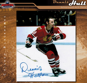 DENNIS HULL Signed Chicago Blackhawks 8 X 10 Photo - 70296