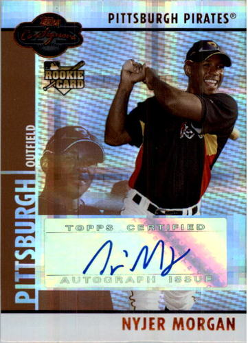 Photo of 2008 Topps Co-Signers Hyper Plaid Bronze #105 Nyjer Morgan AU