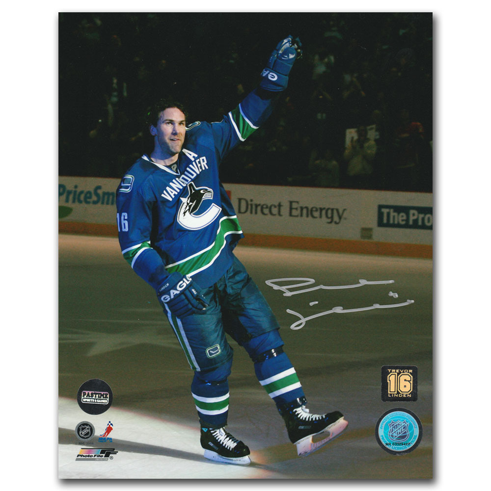 Trevor Linden Autographed Vancouver Canucks 8X10 Photo